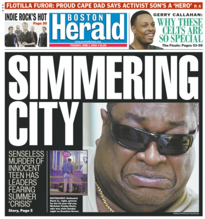 6.1.2010 — Boston Herald Cover