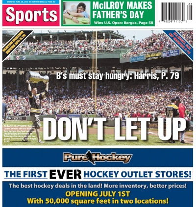Boston Herald Sports Cover - 6/20/2011